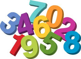 An image of a bunch of colored different numbers