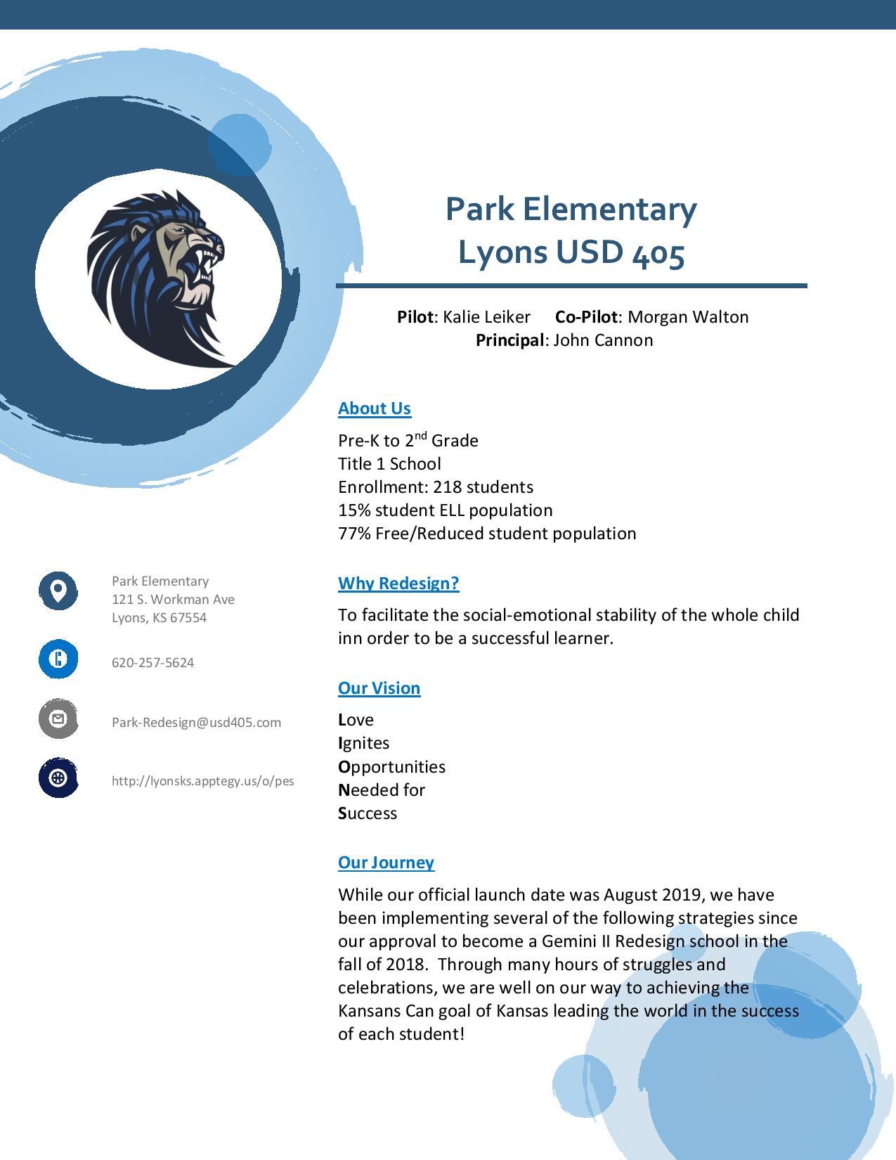 PES Gemini School Profile Page 1