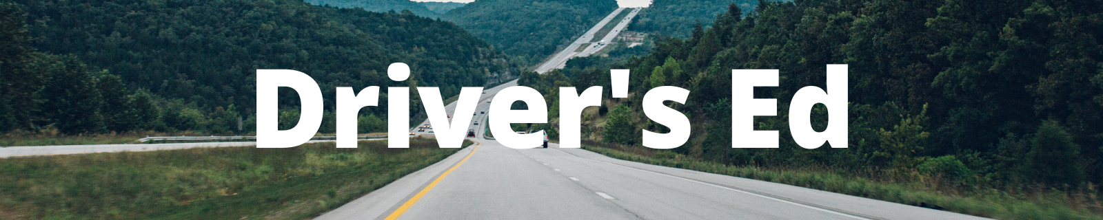 """header that reads """"drivers ed"""""""
