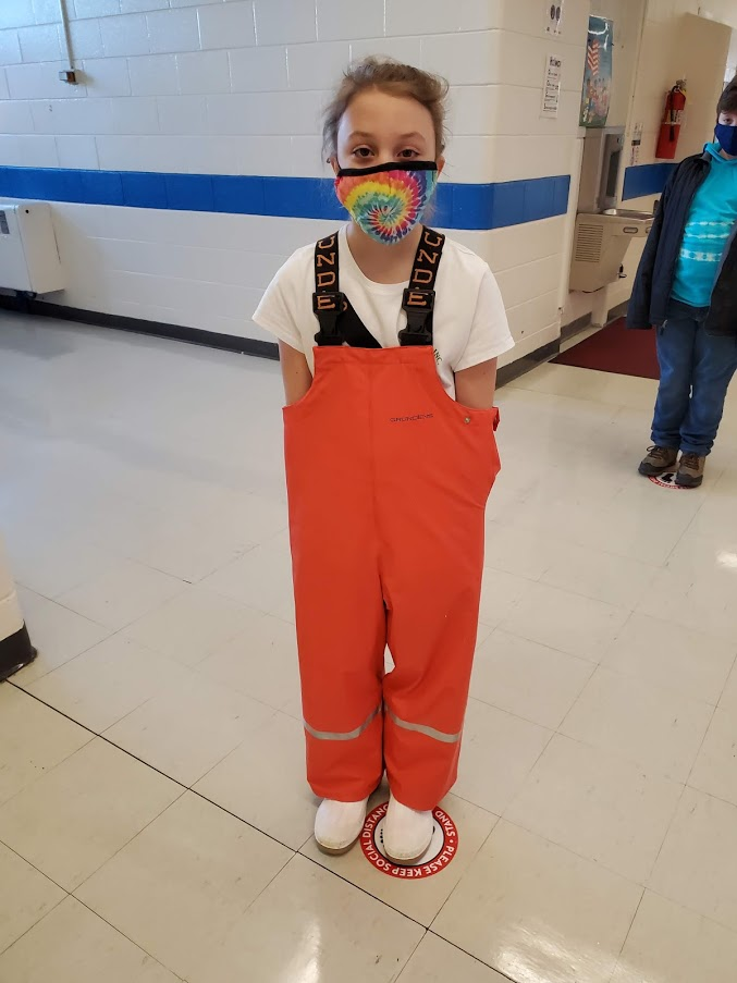 LPS student dressed up for the book drive