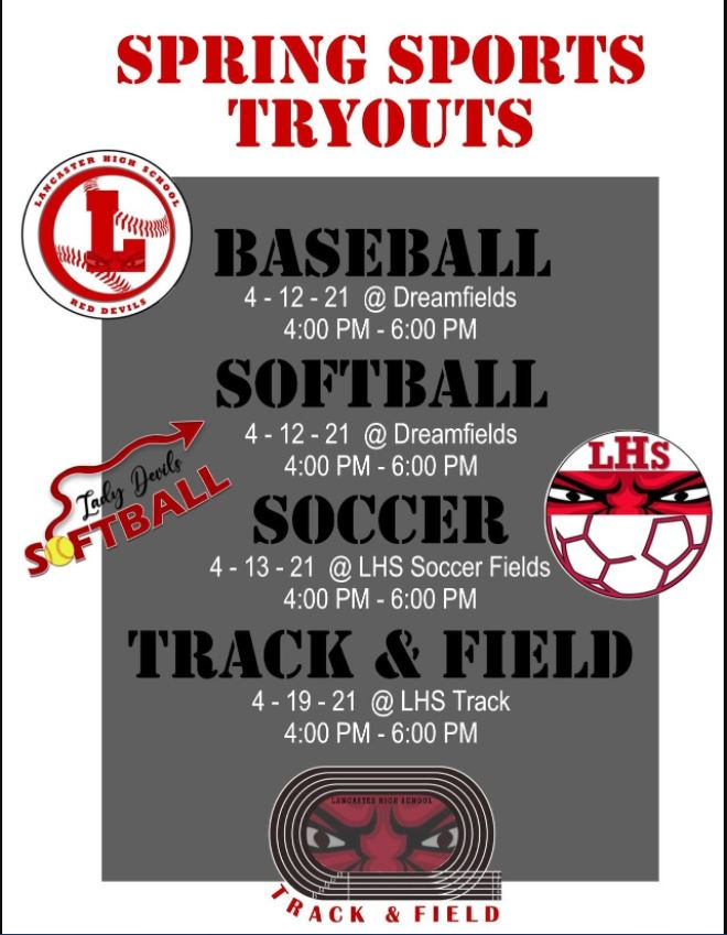 Spring Sport Tryout Information