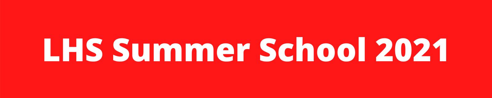 LHS Summer School Banner