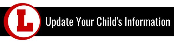 Update Your Child's Information banner