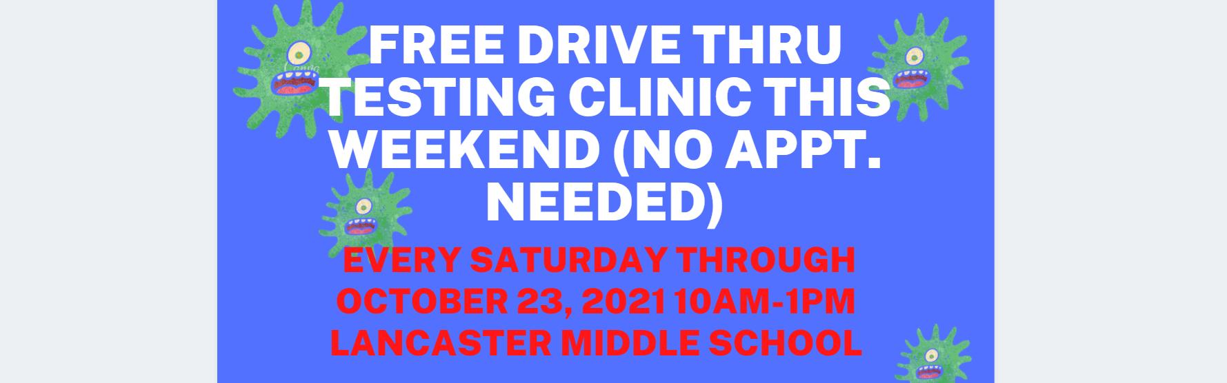 Drive Thru Testing Clinic
