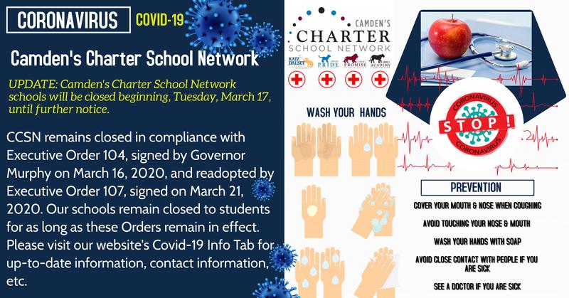 COVID-19 Camden's Charter School Netqork