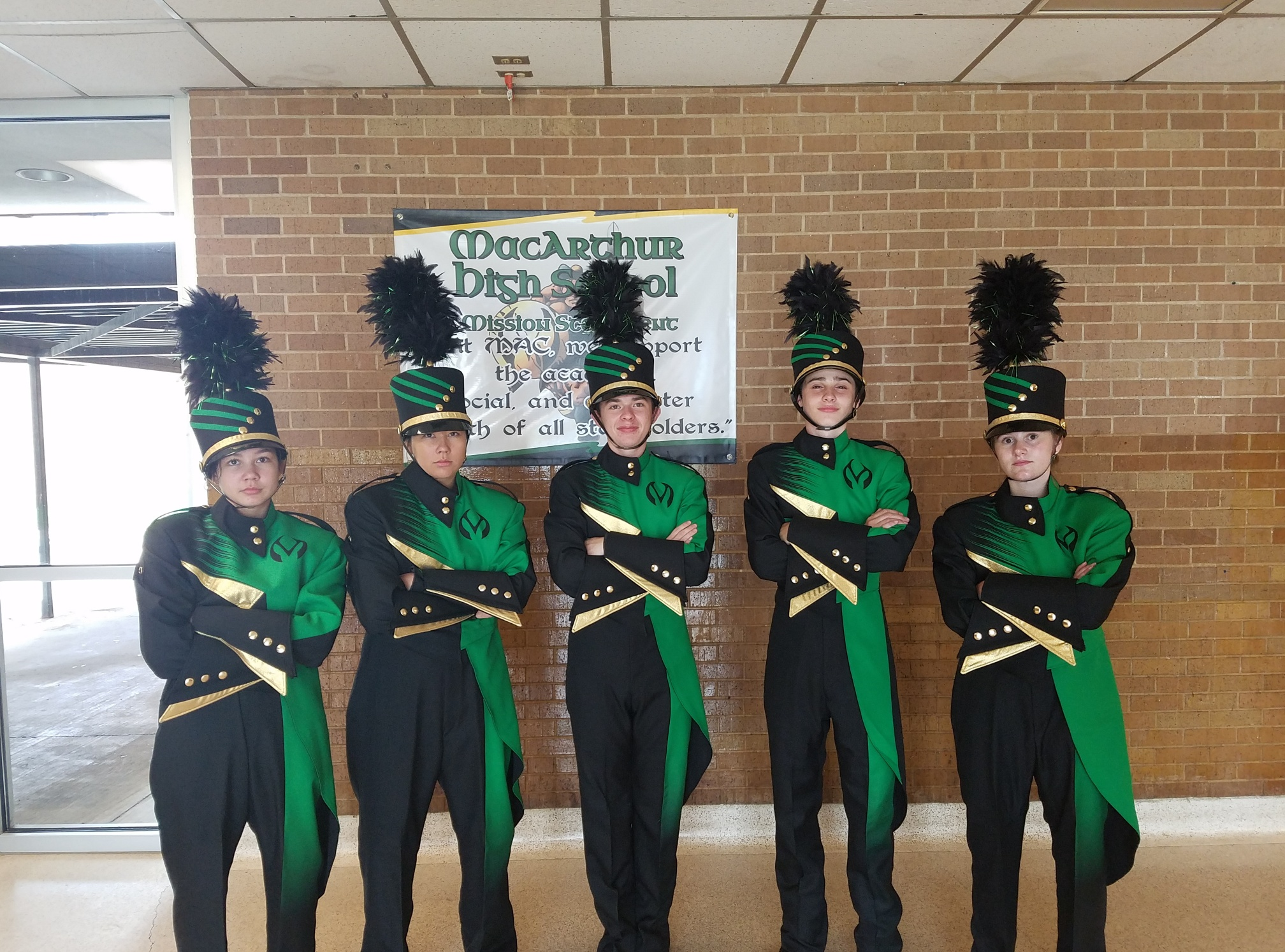 The SIP bond funded new band uniforms for all three high schools. Check out MacArthur's new uniforms, and stay tuned for Eisenhower's and Lawton High's!