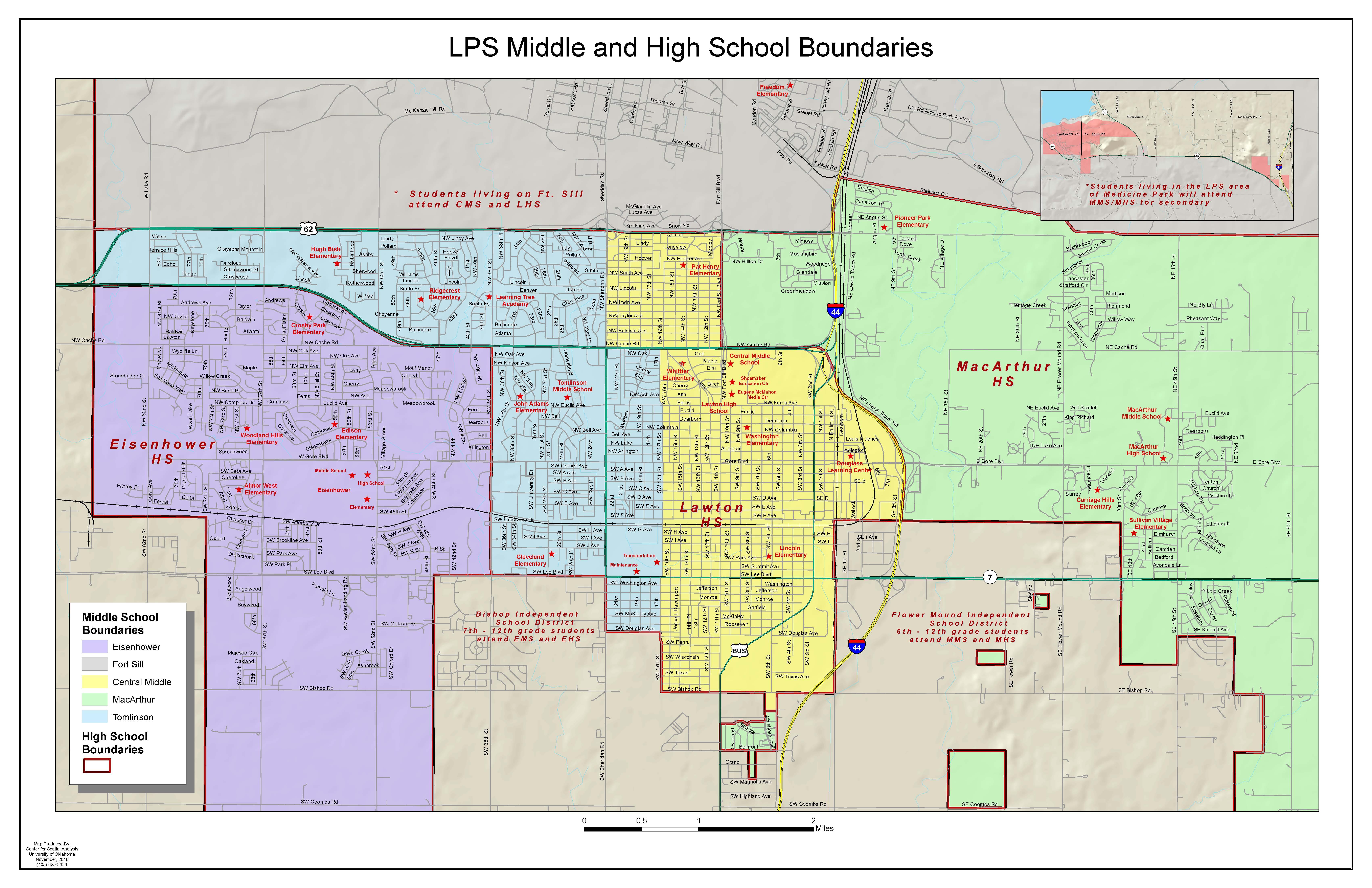 Secondary School Boundary Map