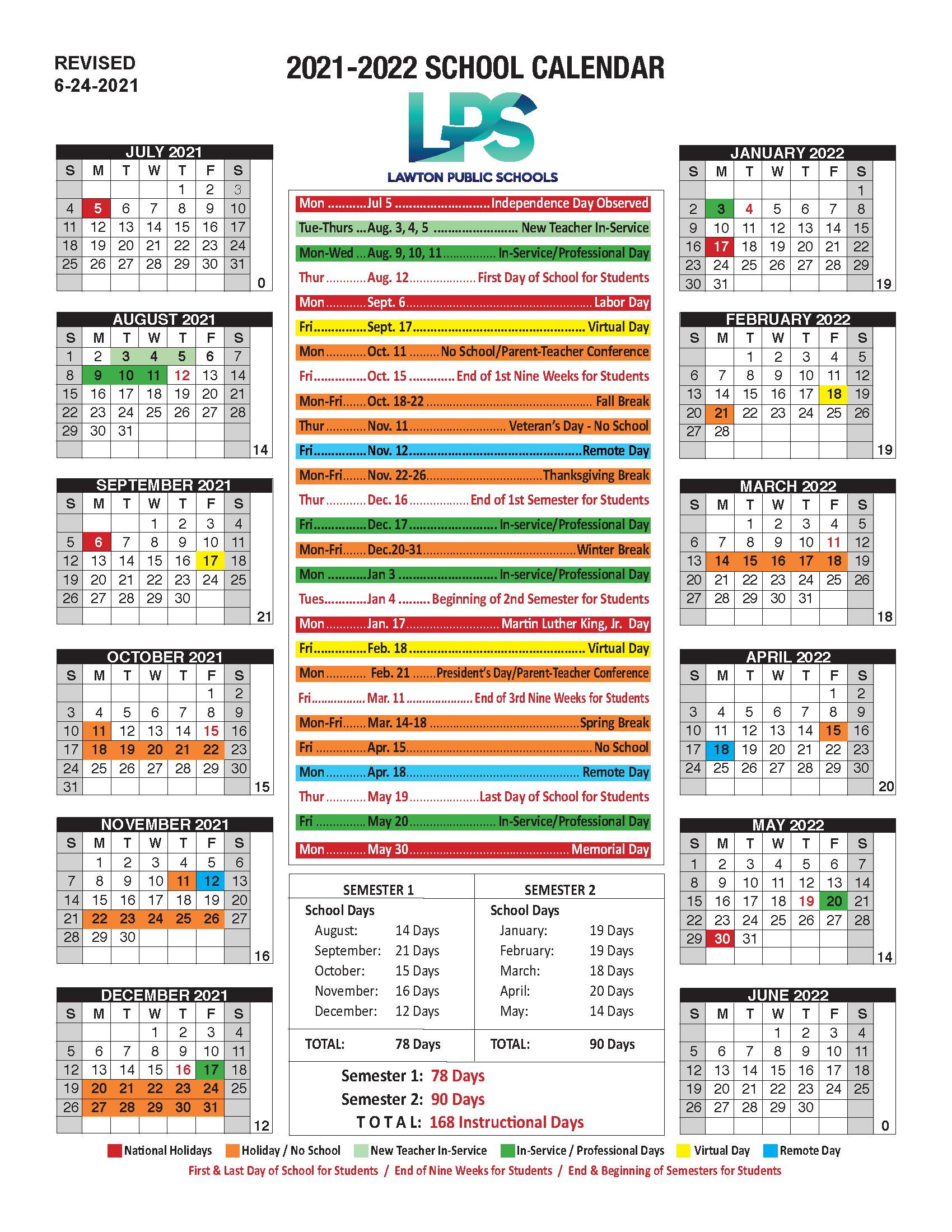 LPS 2021-2022 Calendar