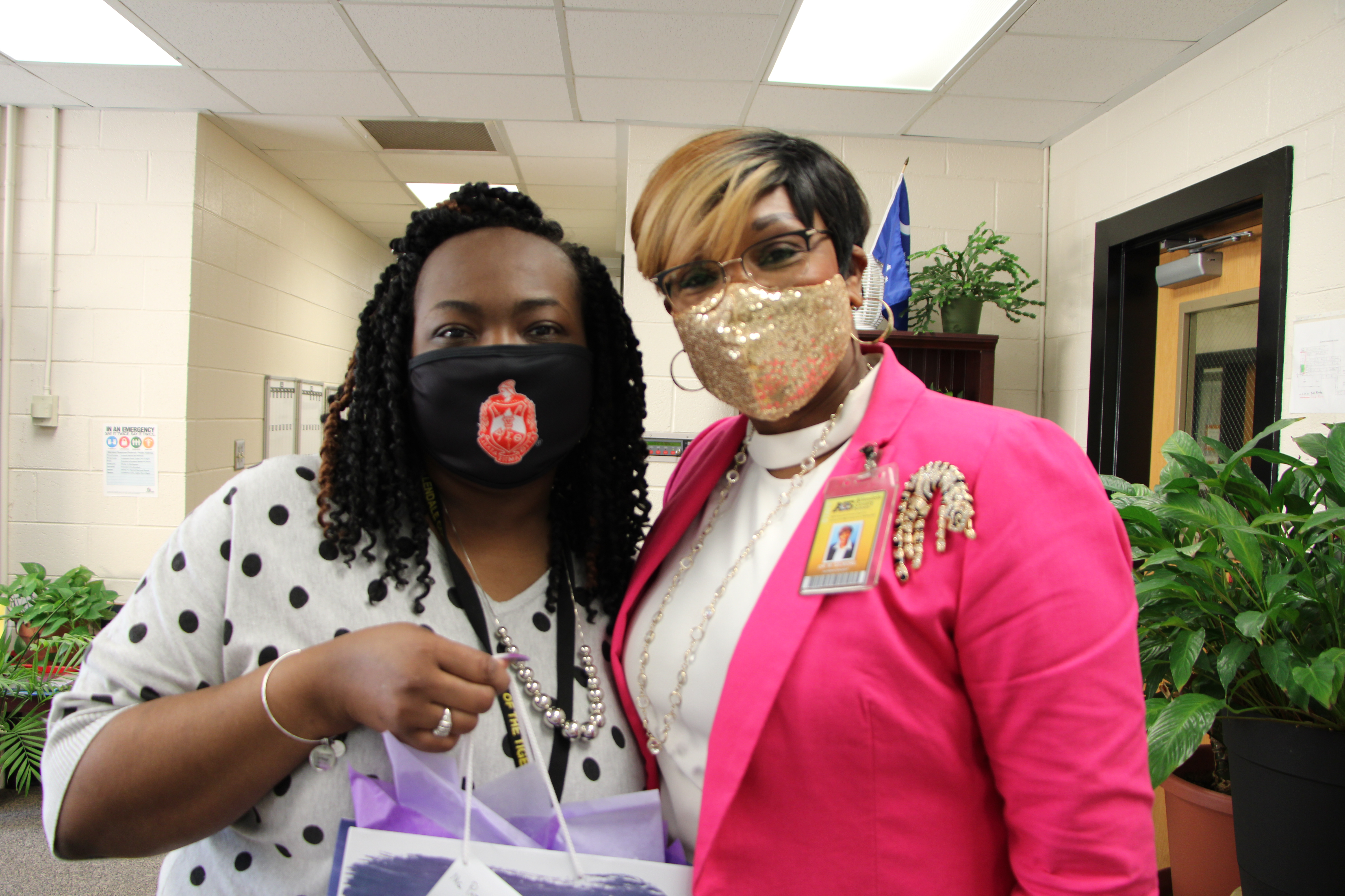 Ms. Patterson with Dr. Gilmore