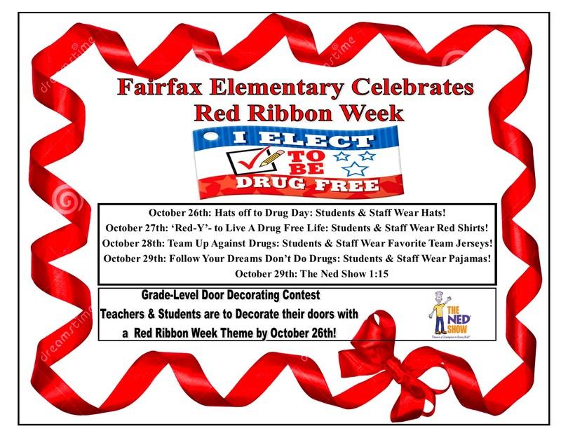 Fairfax Elementary Celebrates Red Ribbon Week
