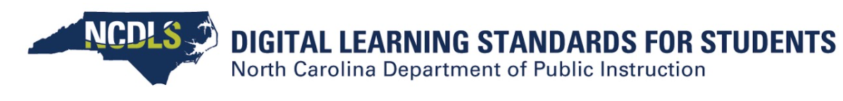 Digital Learning Standards for Students