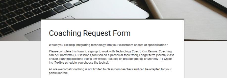 Coaching request form