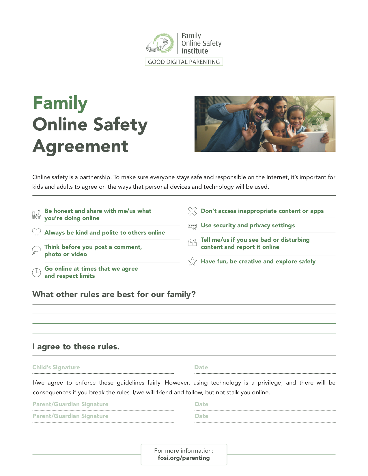 image of Family Safety Agreement pdf