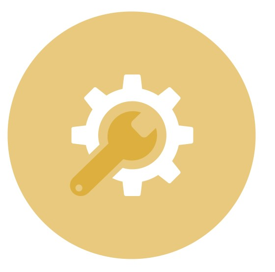Repair Icon in Gold