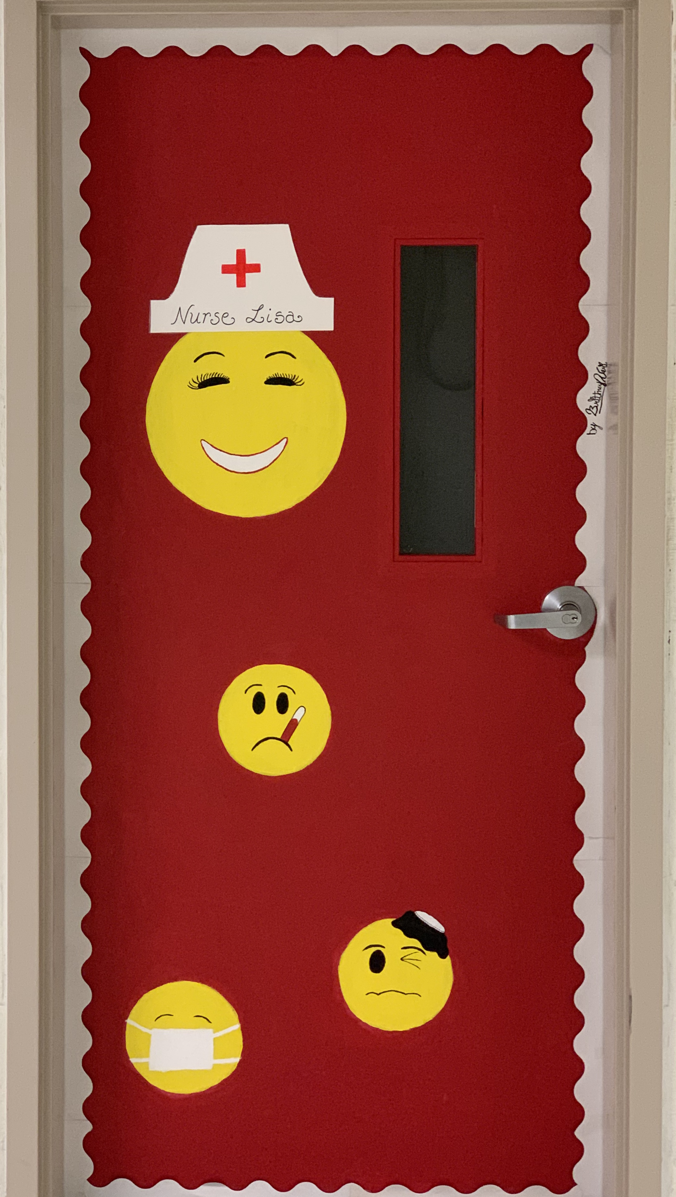 Clinic Door with painted smiles