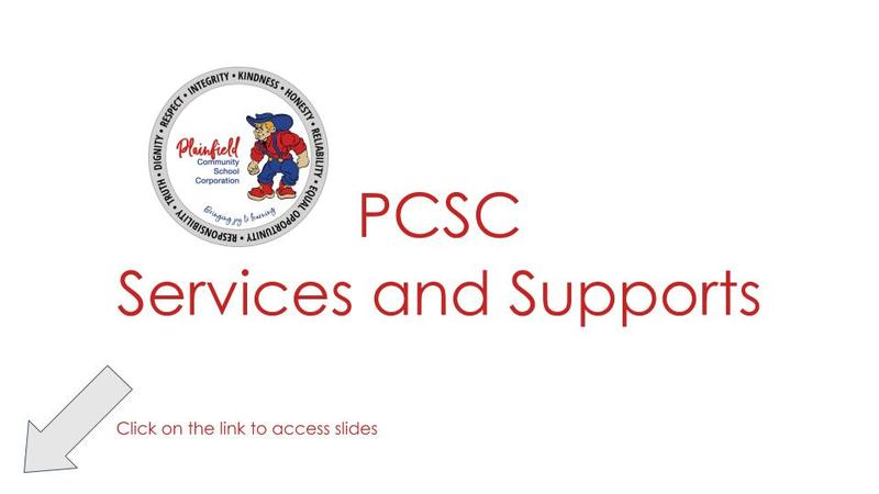 PCSC services and support header