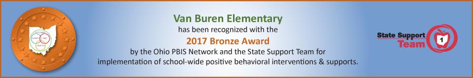 Van Buren Elementary 2017 Bronze Award
