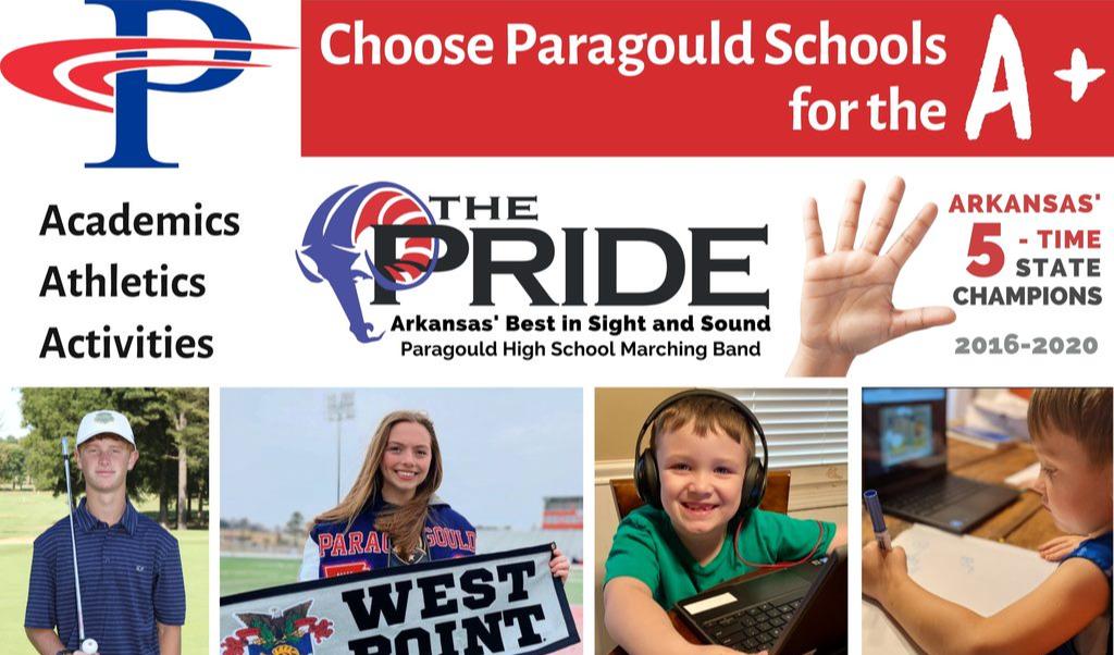 Choose Paragould Schools for the A+: Academics, Athletics,  Activities