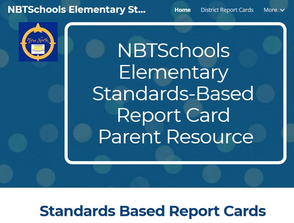 NBTSchools Elementary Standards-Based Report Card Parent Resource