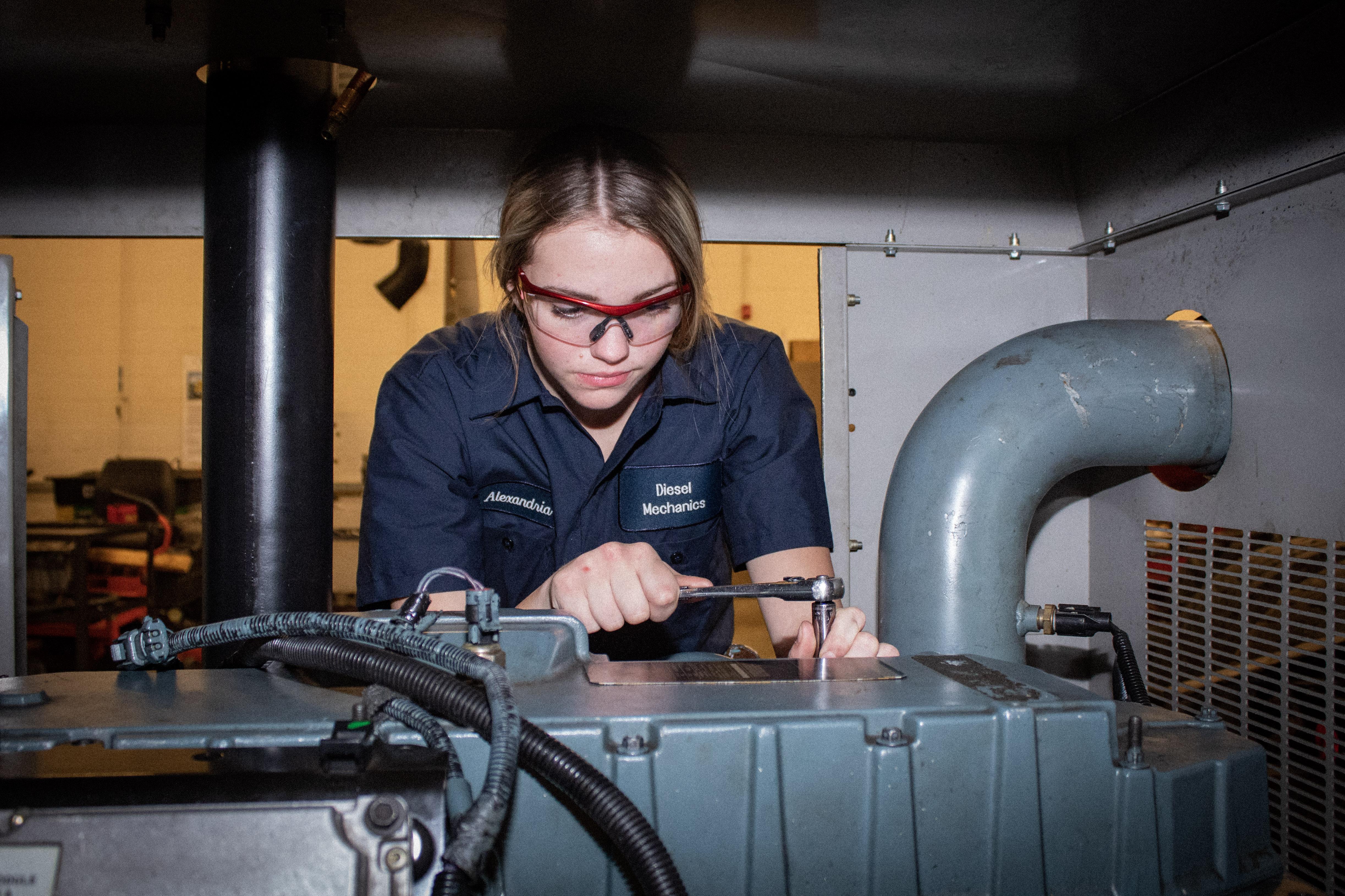Diesel Technology Student