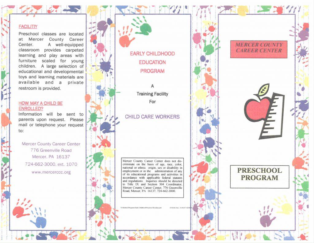 Preschool Program Brochure