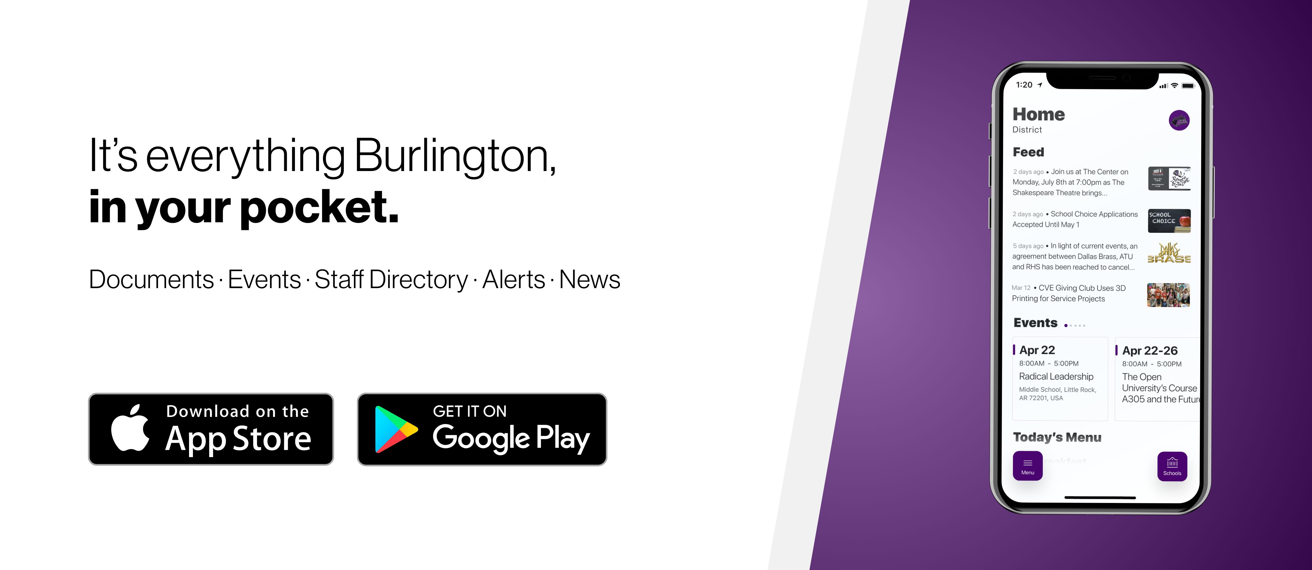 burlington schools mobile app