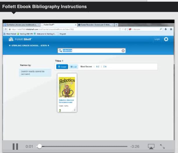 Follett EBooks Bibliography Instructions