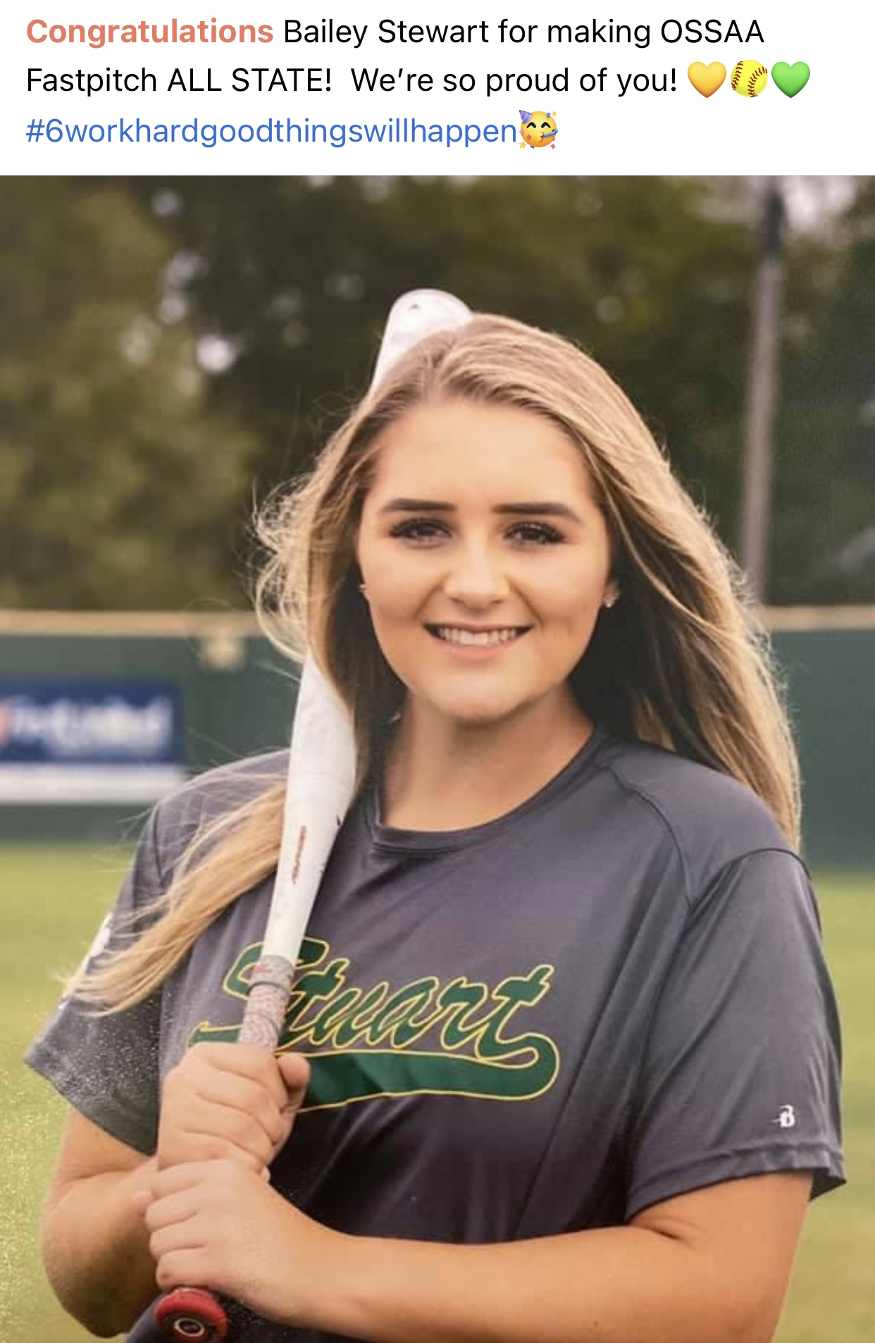 OSSAA Fastpitch ALL STATE   Bailey Stewart