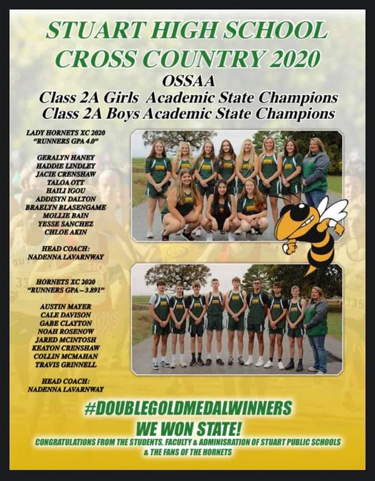 2020 Cross Country State Academic Champions
