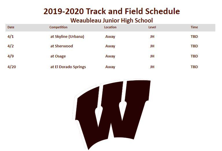 Track and Field Schedule