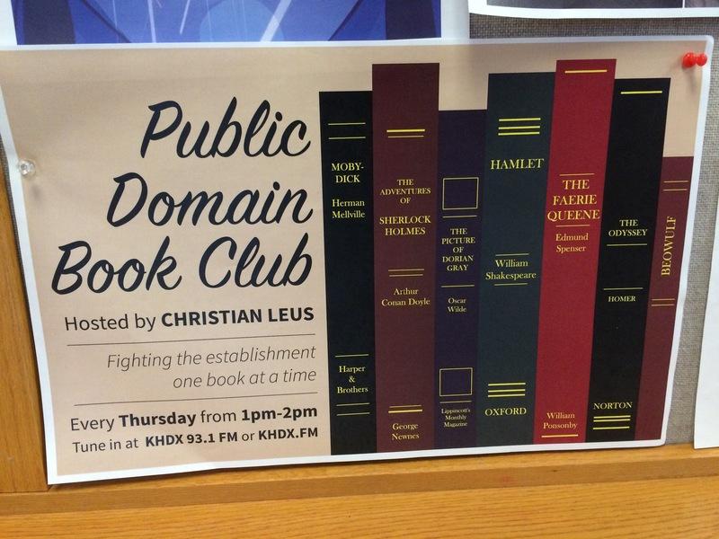Public domain book club photo