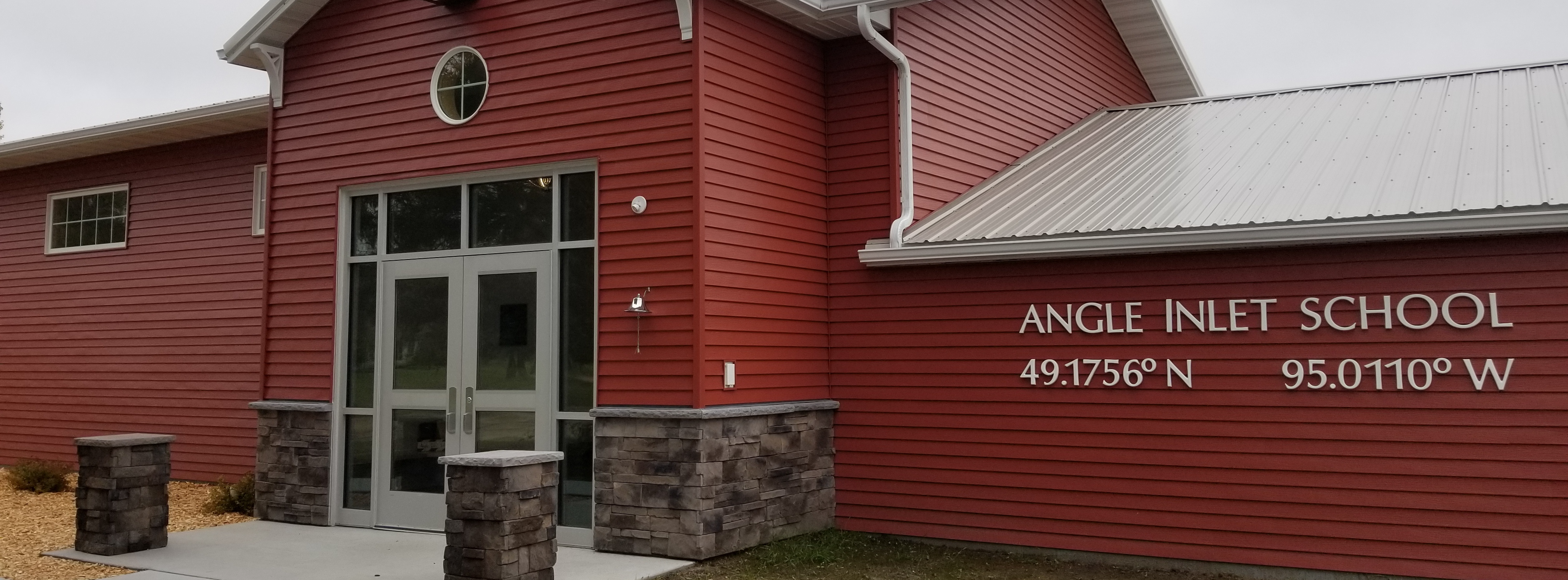 Angle Inlet School front