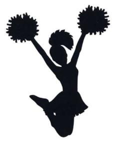 cheerleader shadow illustration