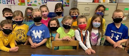 Wilson Elementary students celebrating Kansas Day!
