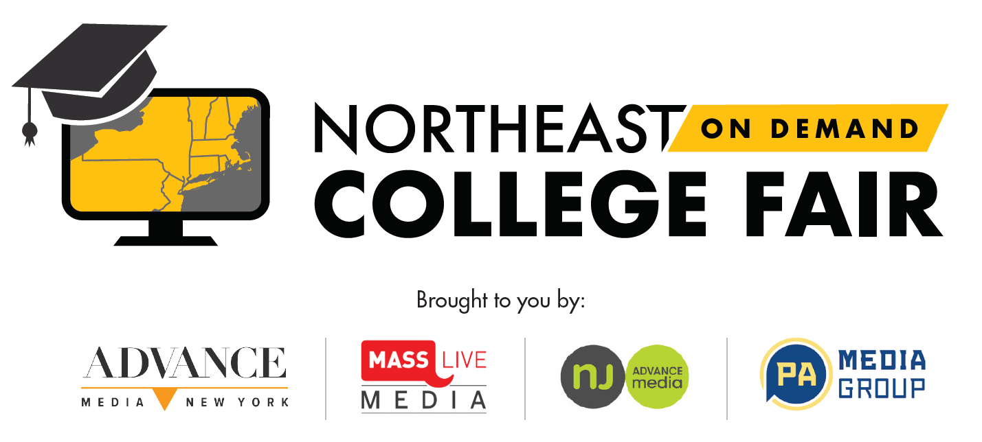 """Flyer with black lettering reading """" Northeast ON DEMAND College Fair  March 22-April 11"""""""