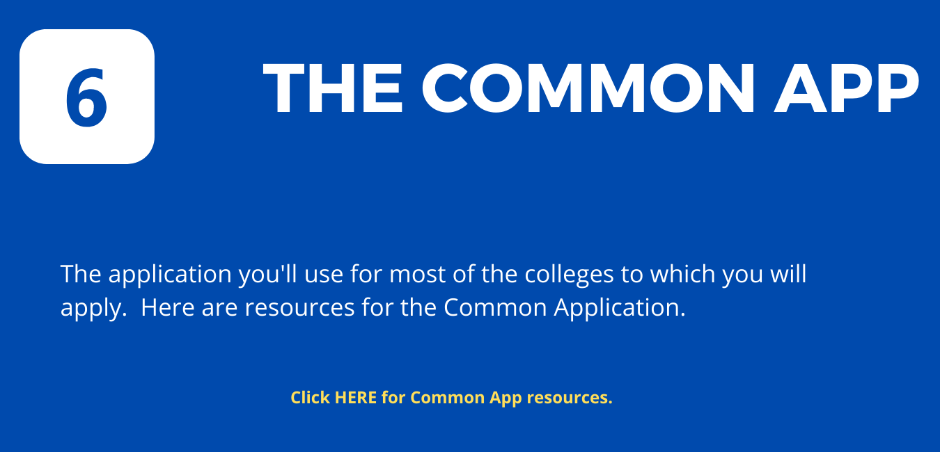 """Step 6: On blue background, white letters reading """"The Common Application"""""""