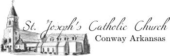 St. Joseph's Catholic Church, Conway, Arkansas graphic