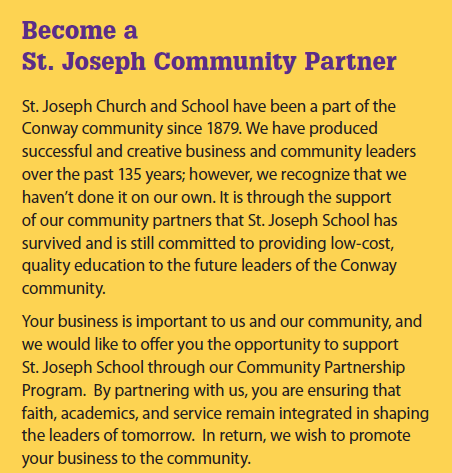 photo that says become a st. joseph community partner