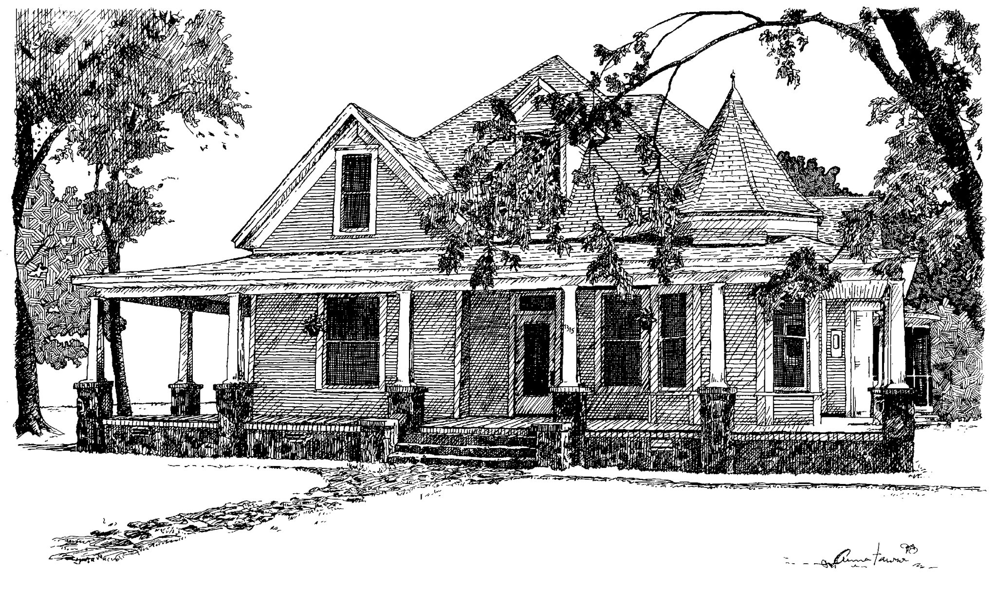 photo of a sketch of a house