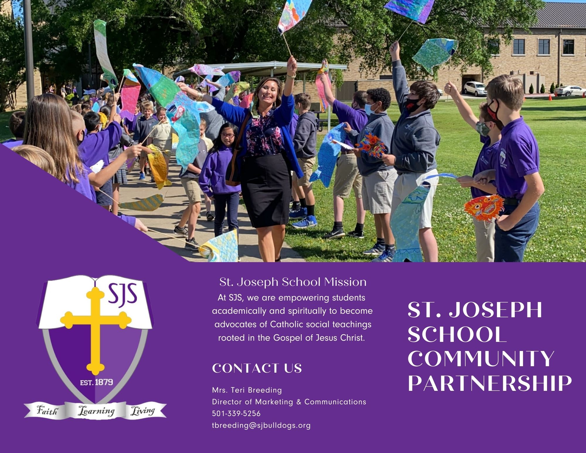 photo that says st. joseph school community partnership program