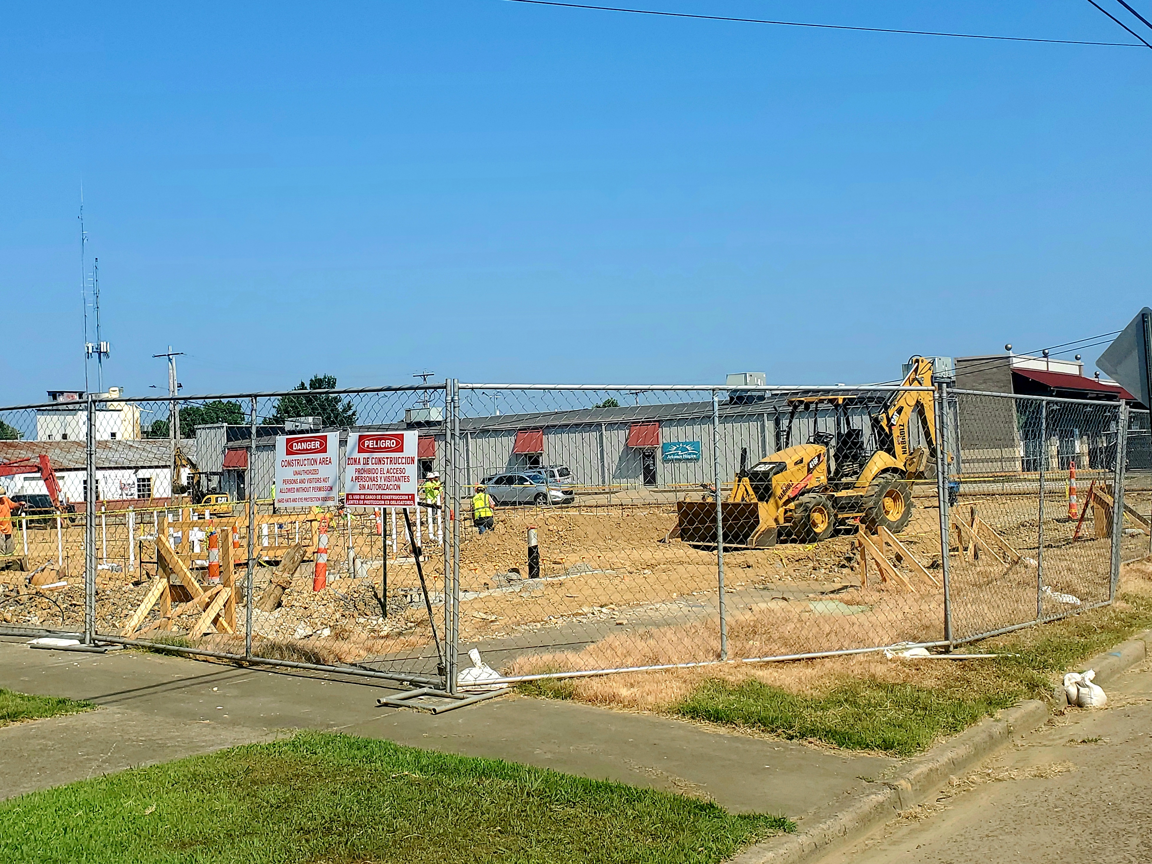 Construction begins on the new high school.