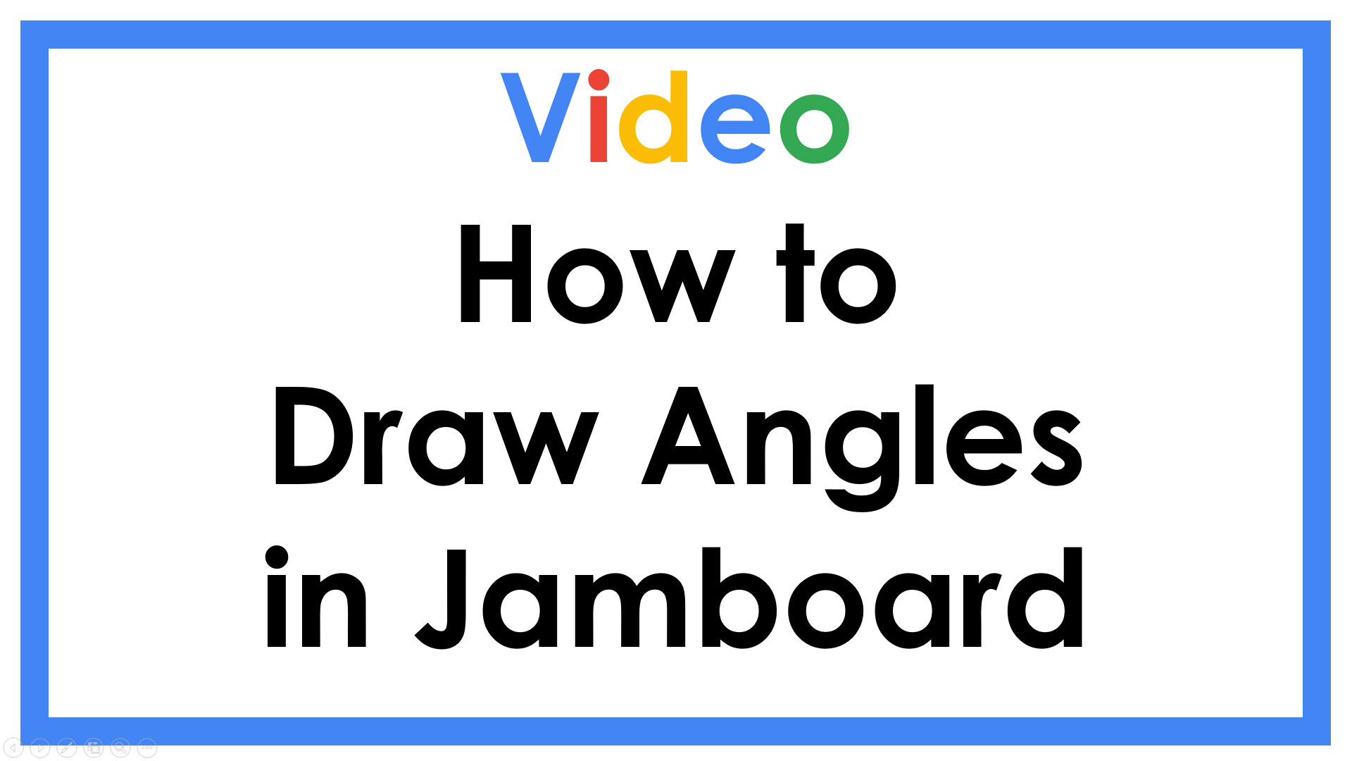 How to Draw Angles in Jamboard