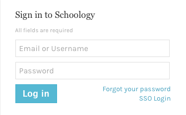Sign in to Schoology