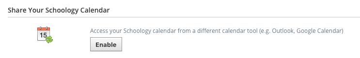 Share your Schoology Calendar