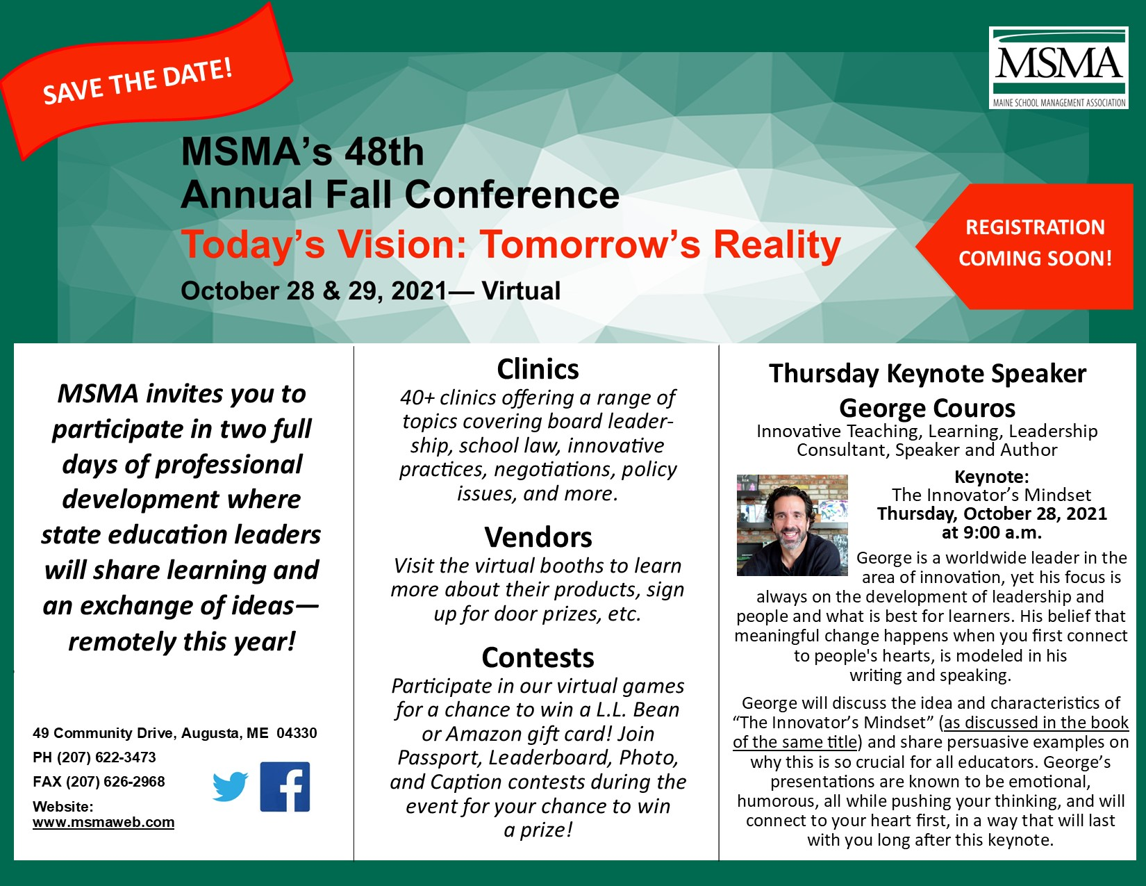Fall Conference Save the Date