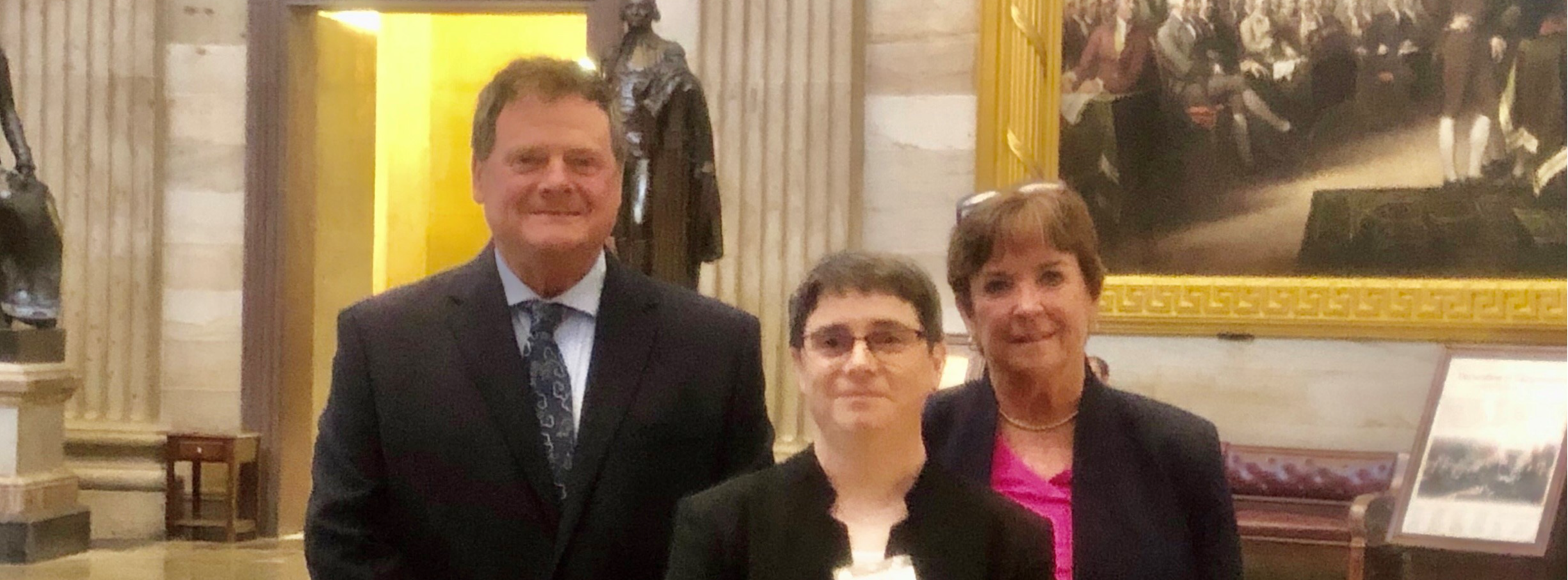 Rick Colpitts, Heather Perry, and Eileen King visiting Senator Collins at the 2021 AASA Legislative Advocacy Conference in D.C.