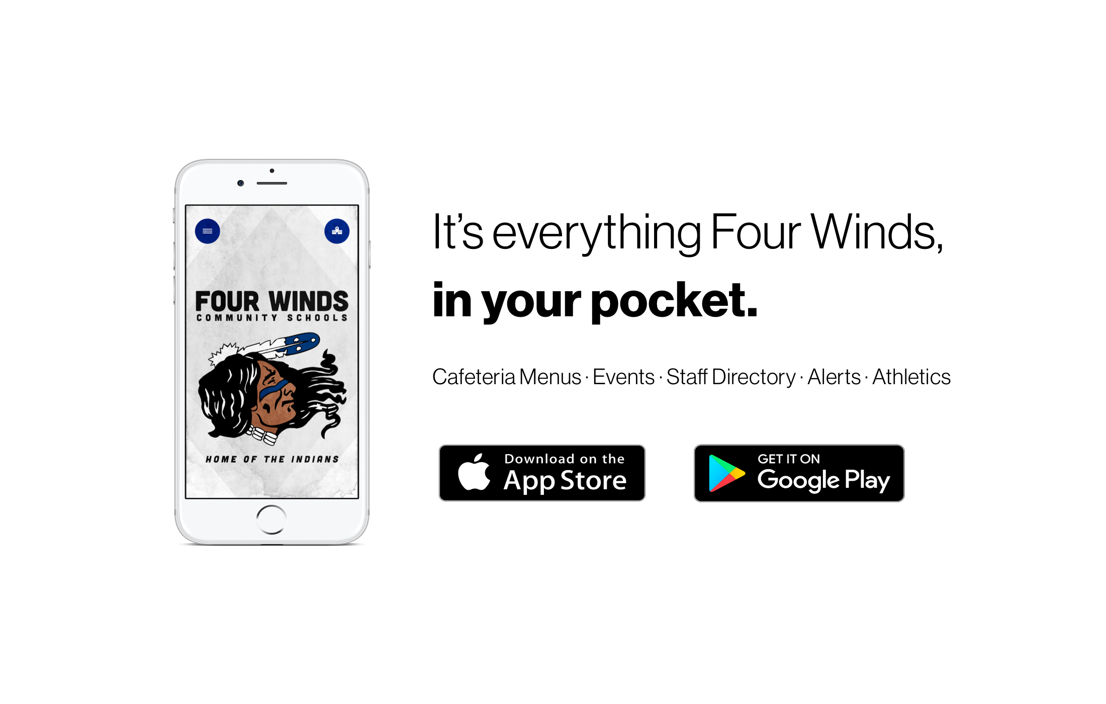 Download our new app from the Apple or Google Play store.