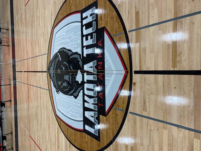 Lakota Tech High School Logo on the gym floor