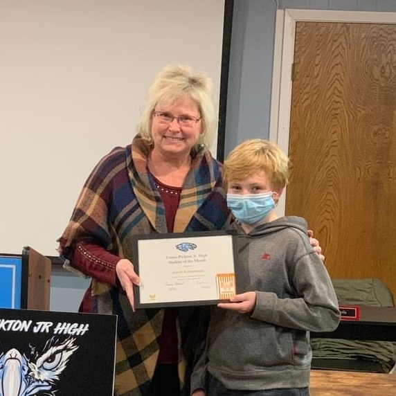 Junior High Student of the Month