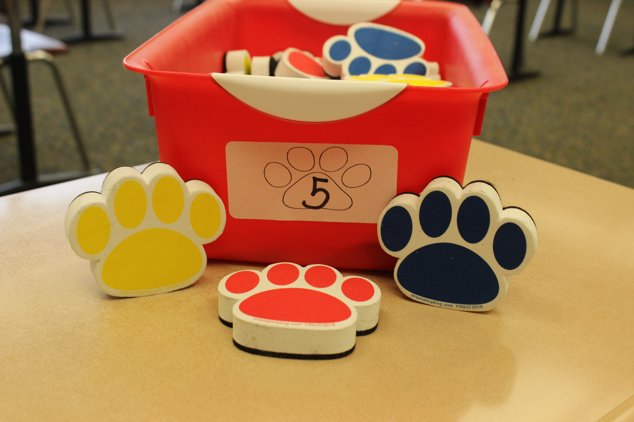 5 Paws Paw Whiteboard Eraser